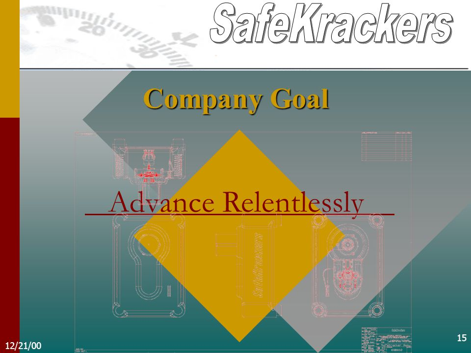 12/21/00 15 Company Goal Advance Relentlessly