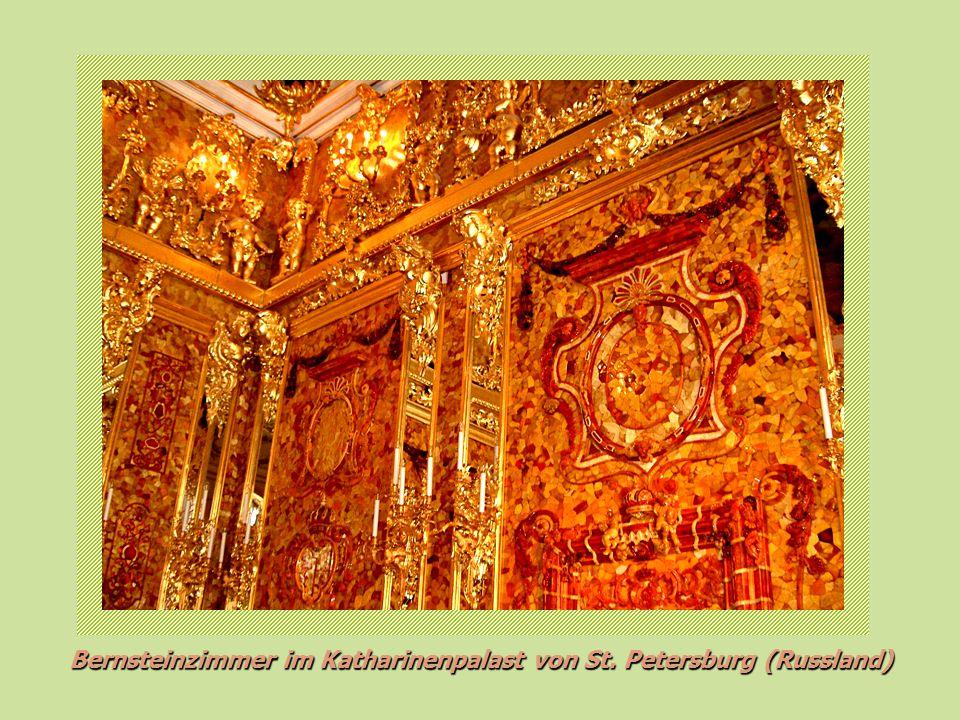 Bernsteinzimmer im Katharinenpalast von St. Petersburg (Russland)