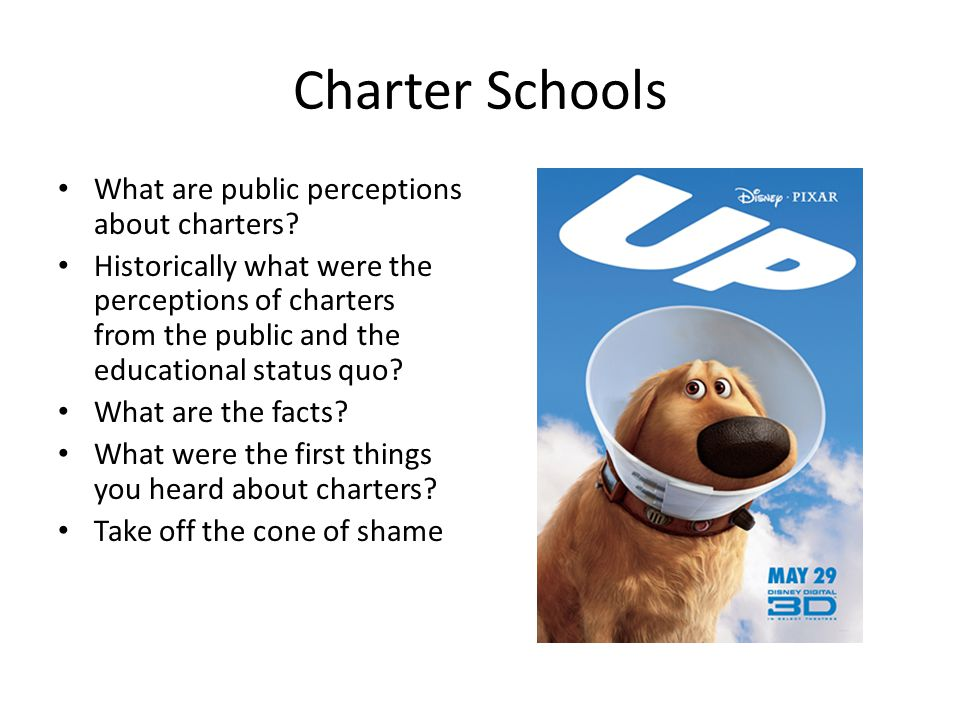 Charter Schools What are public perceptions about charters? Historically what were the perceptions of charters from the public and the educational sta