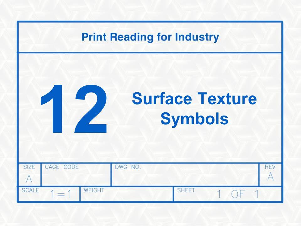 12 Surface Texture Symbols
