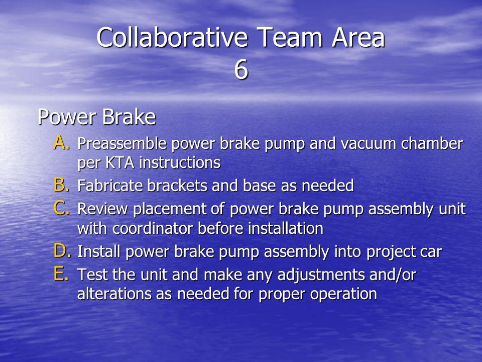 Collaborative Team Area 6 Power Brake A.