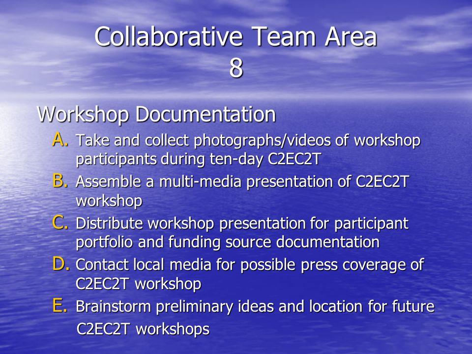 Collaborative Team Area 8 Workshop Documentation A.
