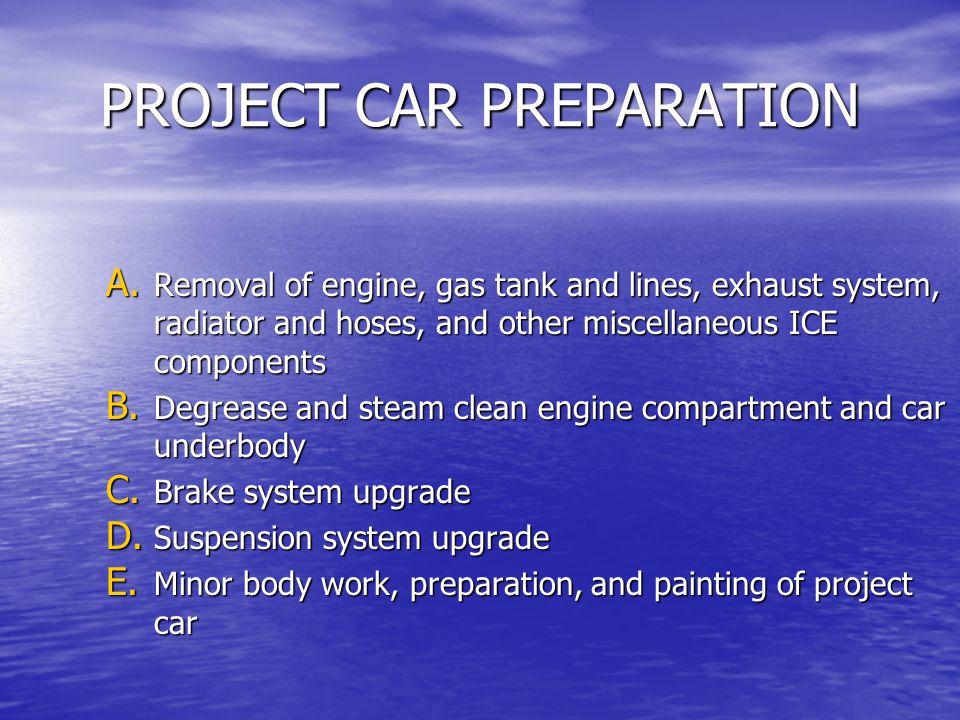 PROJECT CAR PREPARATION A.