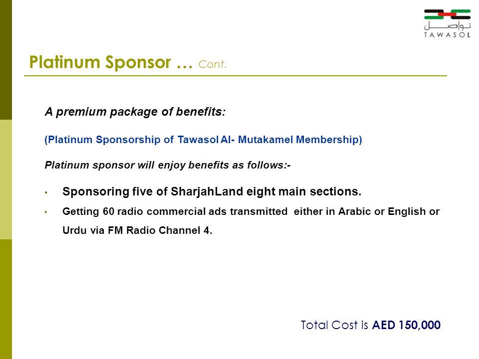 Platinum Sponsor … Cont.