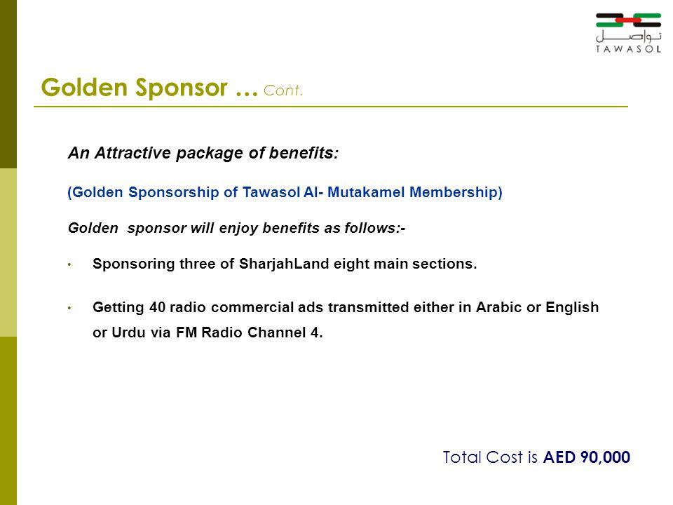 Golden Sponsor … Cont.