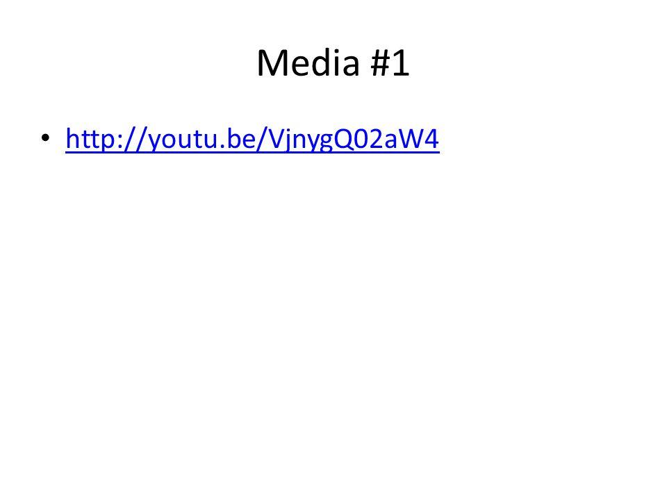 Media #1 http://youtu.be/VjnygQ02aW4