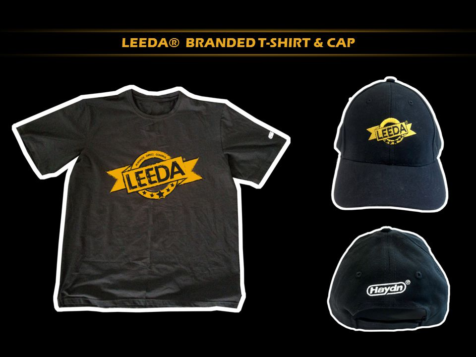 LEEDA® BRANDED T-SHIRT & CAP