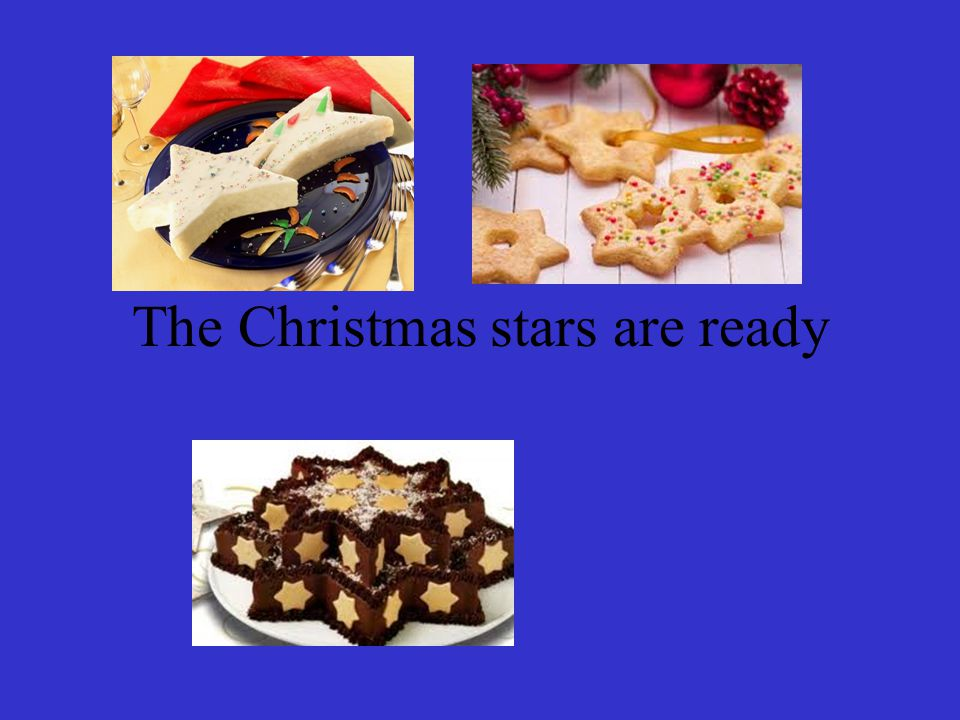 The Christmas stars are ready