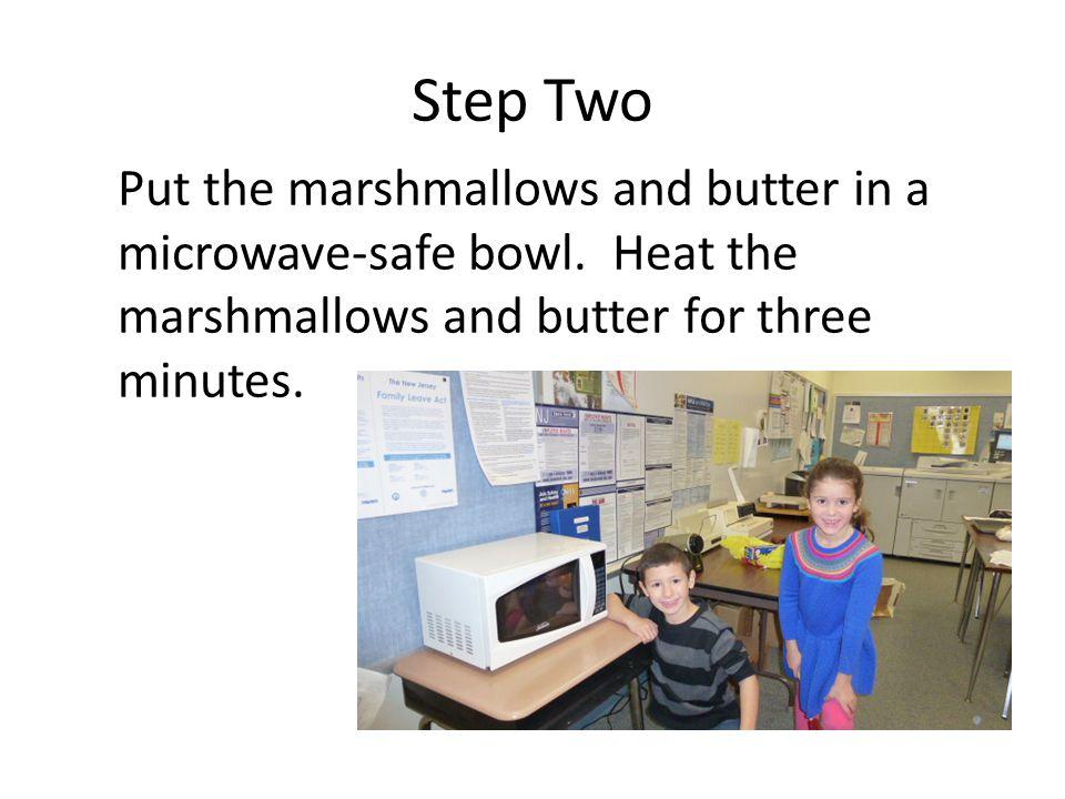 Step Three Stir until smooth.