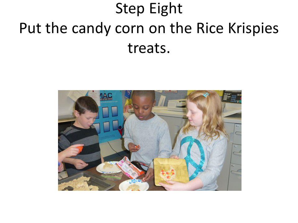 Finally, eat the Turkey Rice Krispies Treats!