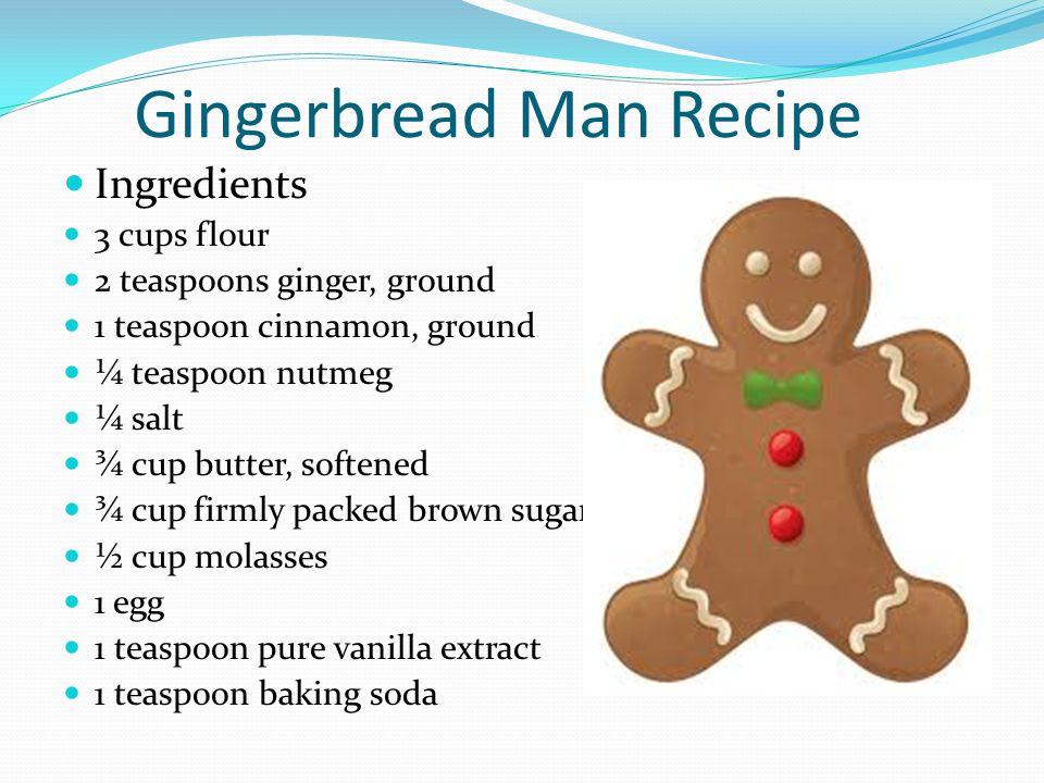 Directions Mix flour, ginger, cinnamon, baking soda, nutmeg and salt in large bowl.