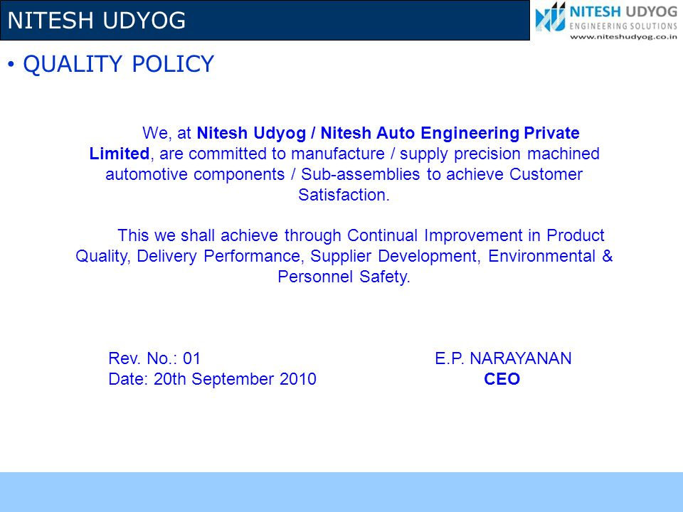 NITESH UDYOG CERTIFICATES & RECOGNITIONS ACHIEVED BEST VENDOR AWARD FROM GABRIEL INDIA LTD.