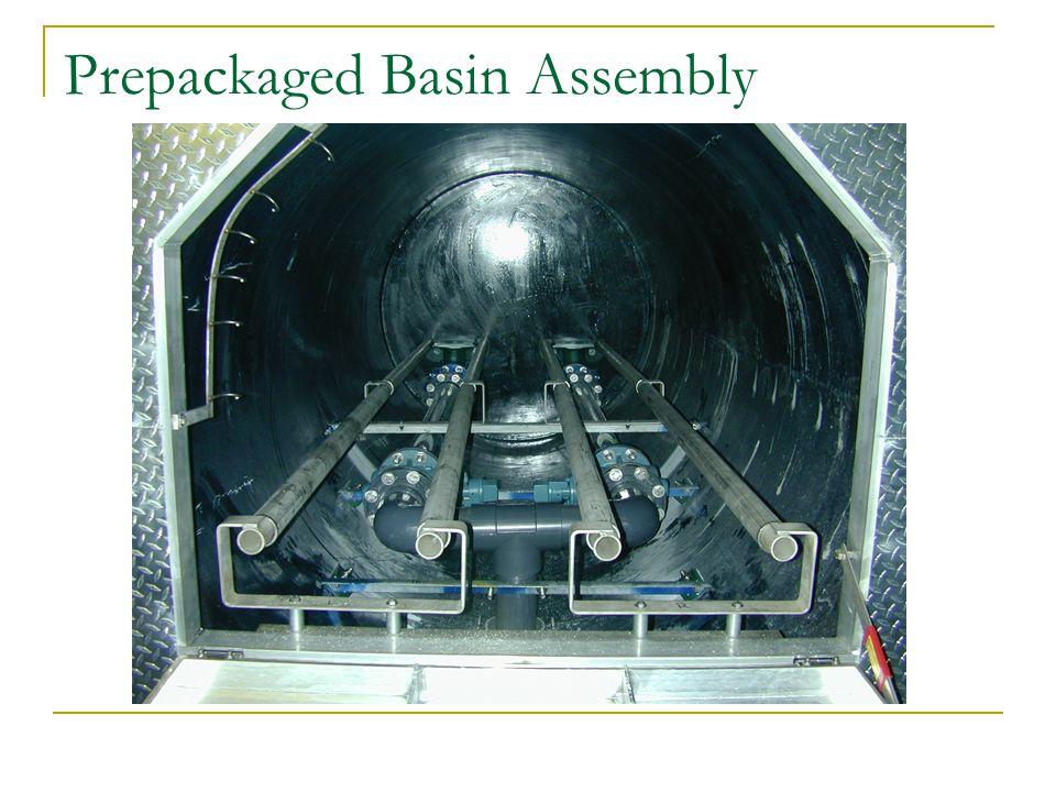 Prepackaged Basin Assembly