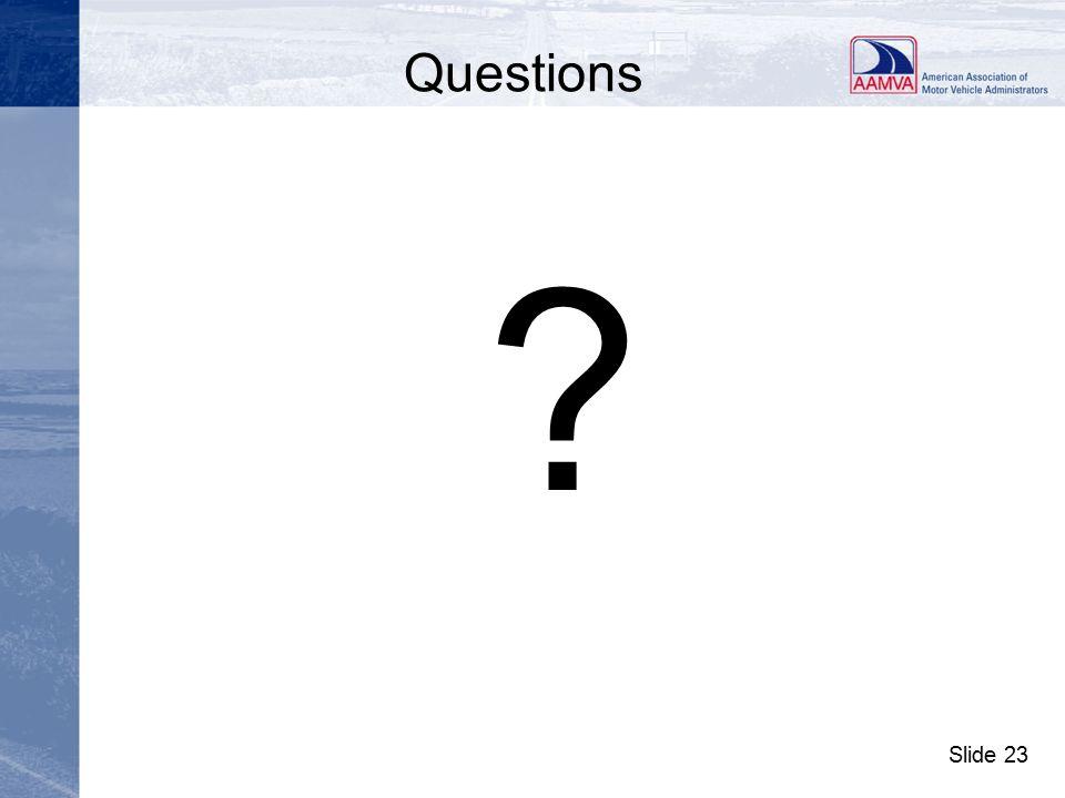 Slide 23 Questions