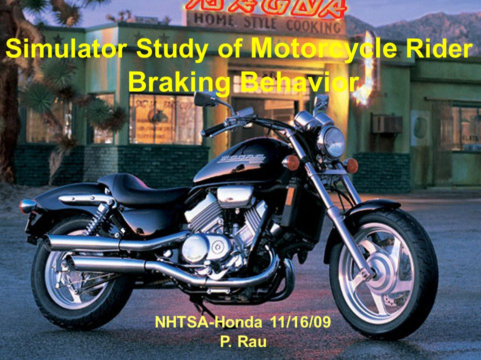 Objectives The objective of this study is to gain a better understanding of how non-expert motorcycle riders use their brakes in various emergency stopping and maneuvering situations.