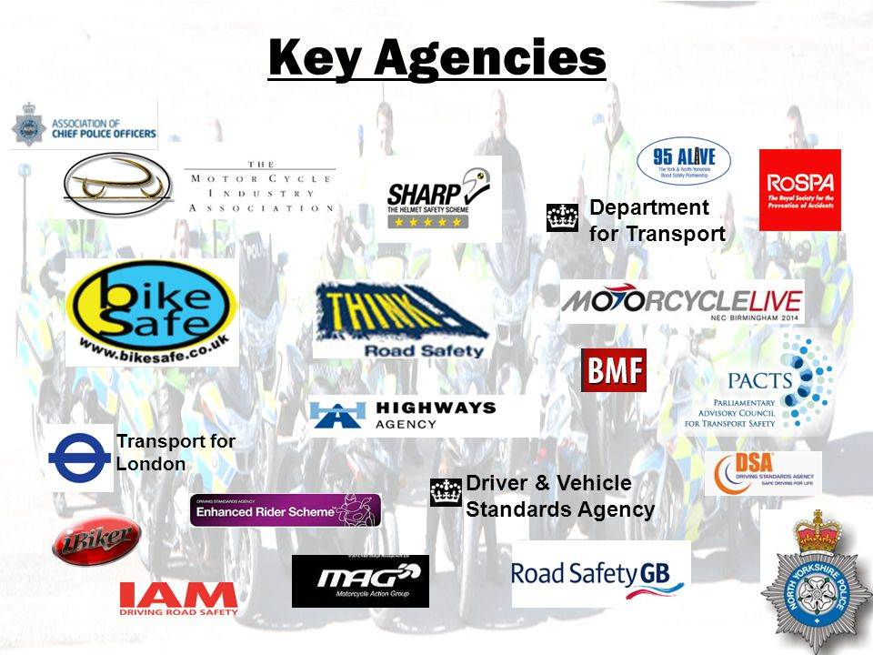 NOT PROTECTIVELY MARKED Key Agencies Department for Transport Driver & Vehicle Standards Agency Transport for London