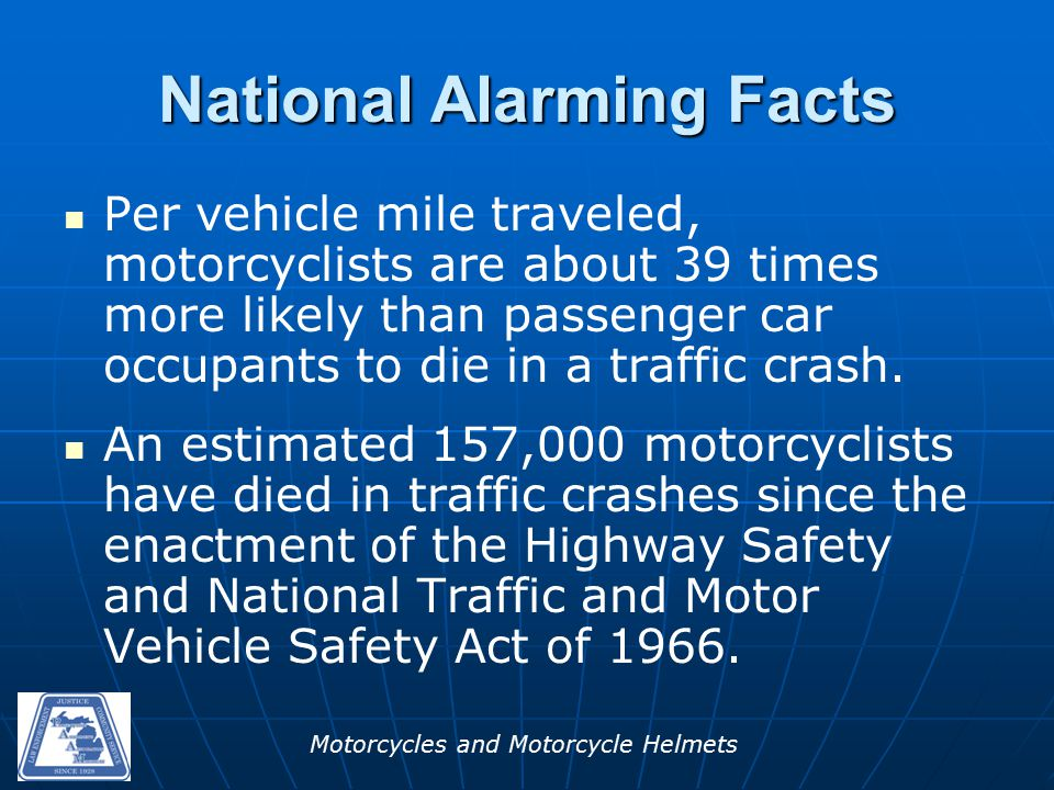 Motorcycles and Motorcycle Helmets Hazardous actions for the Motorcyclist in Multi-Vehicle Crash in 2012