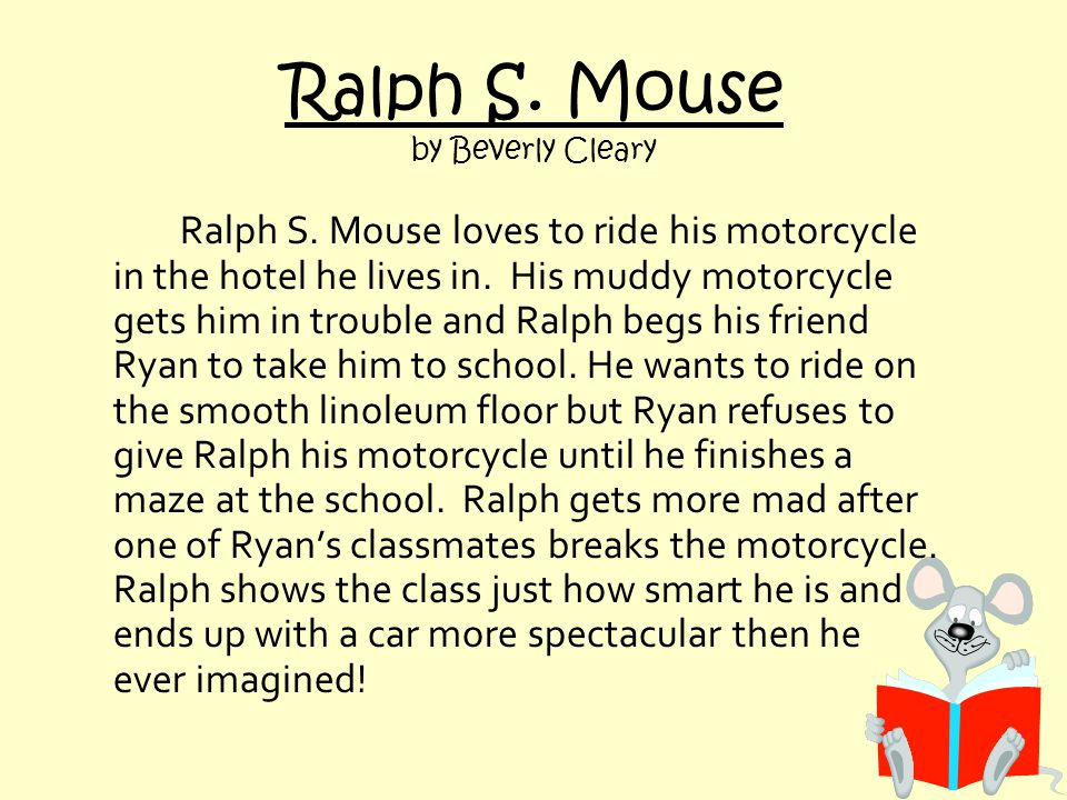 Ralph S. Mouse by Beverly Cleary Ralph S.