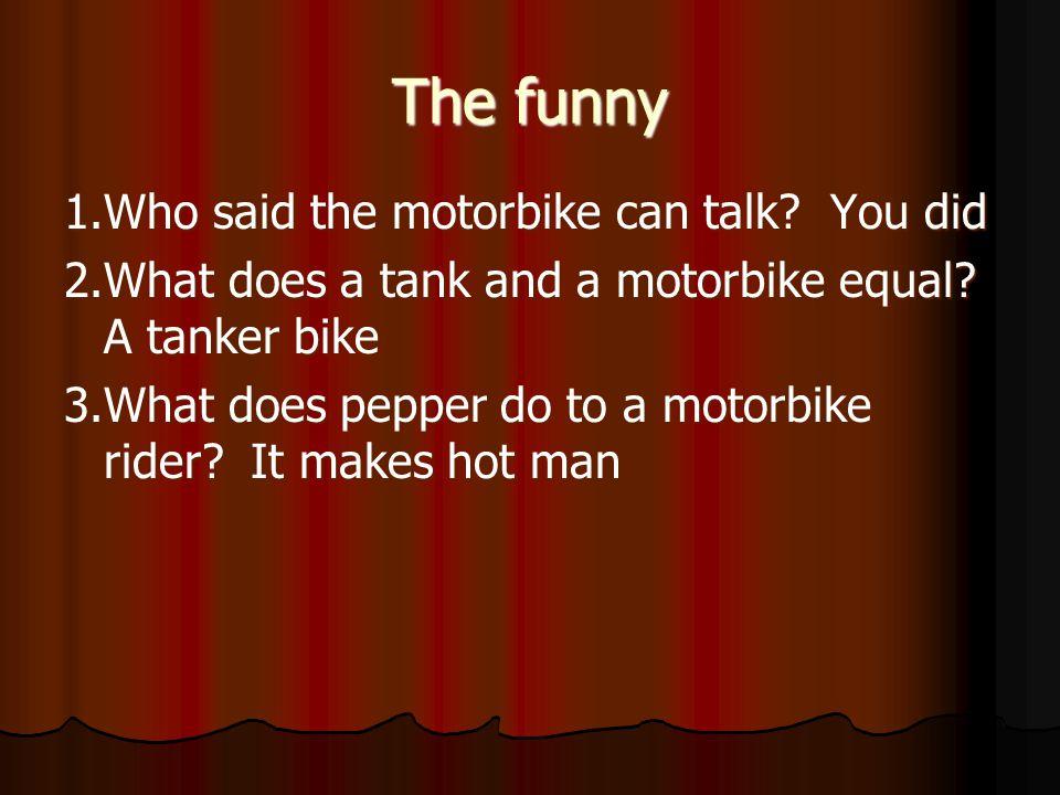 Motorbike jokes
