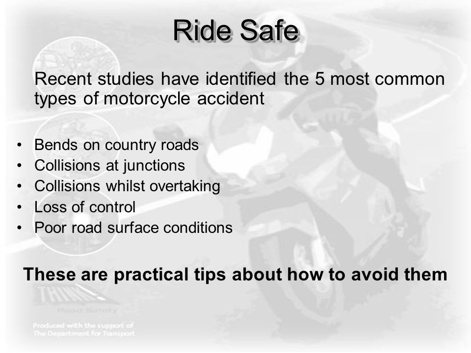 Training might save your life Motorcycling is a skill for life and any skill needs to be practiced, honed and developed.