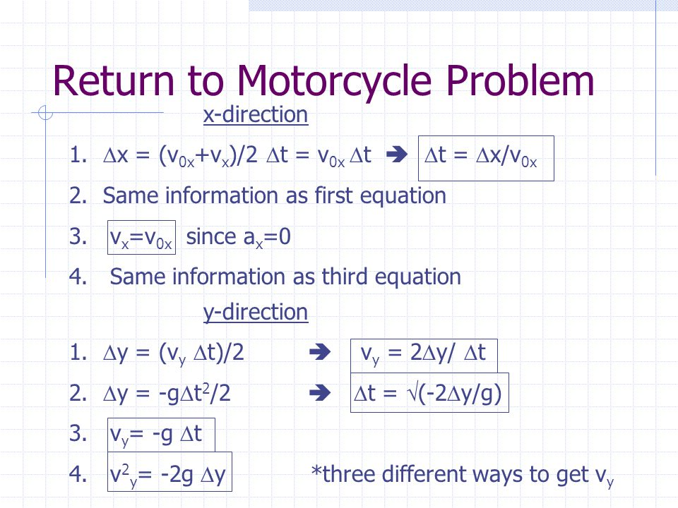  What is the final velocity when motorcycle lands on the other roof.