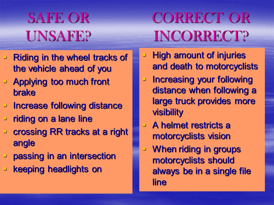 How can motorcyclists protect themselves.