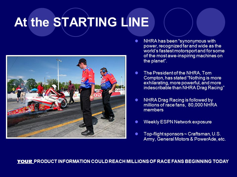 """At the STARTING LINE NHRA has been """"synonymous with power, recognized far and wide as the world's fastest motorsport and for some of the most awe-insp"""
