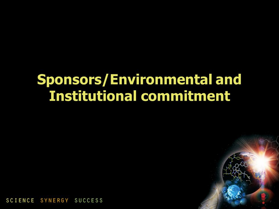 Sponsors/Environmental and Institutional commitment