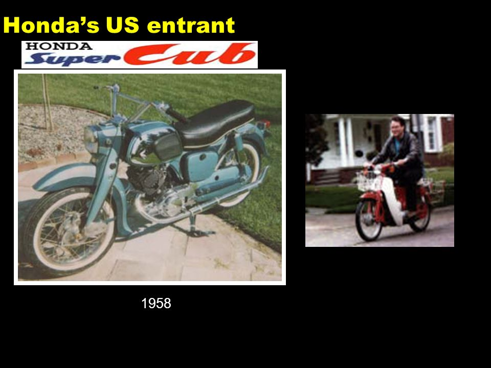 7 Honda's US entrant 1958