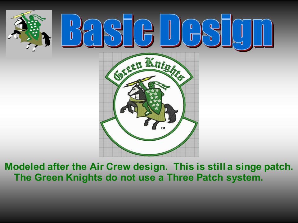 Modeled after the Air Crew design. This is still a singe patch.
