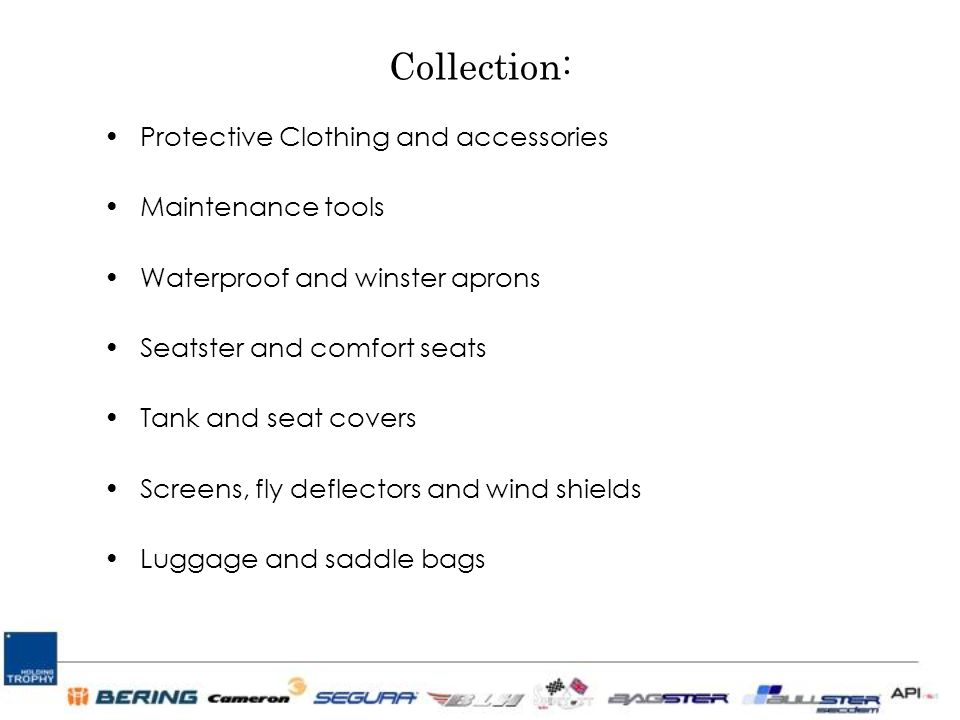 Collection: Protective Clothing and accessories Maintenance tools Waterproof and winster aprons Seatster and comfort seats Tank and seat covers Screens, fly deflectors and wind shields Luggage and saddle bags