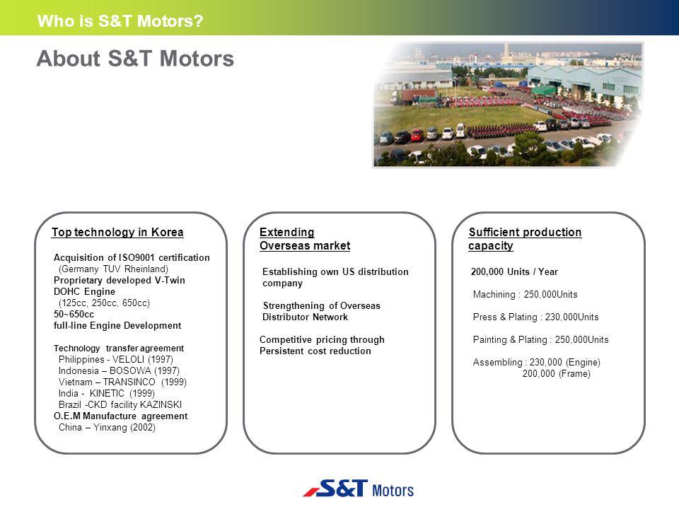 ■ Company at a glance Company Name S&T Motors, Co.Ltd.