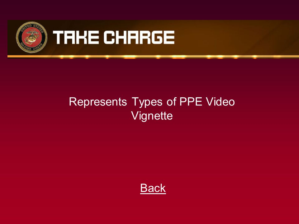 Represents Types of PPE Video Vignette Back