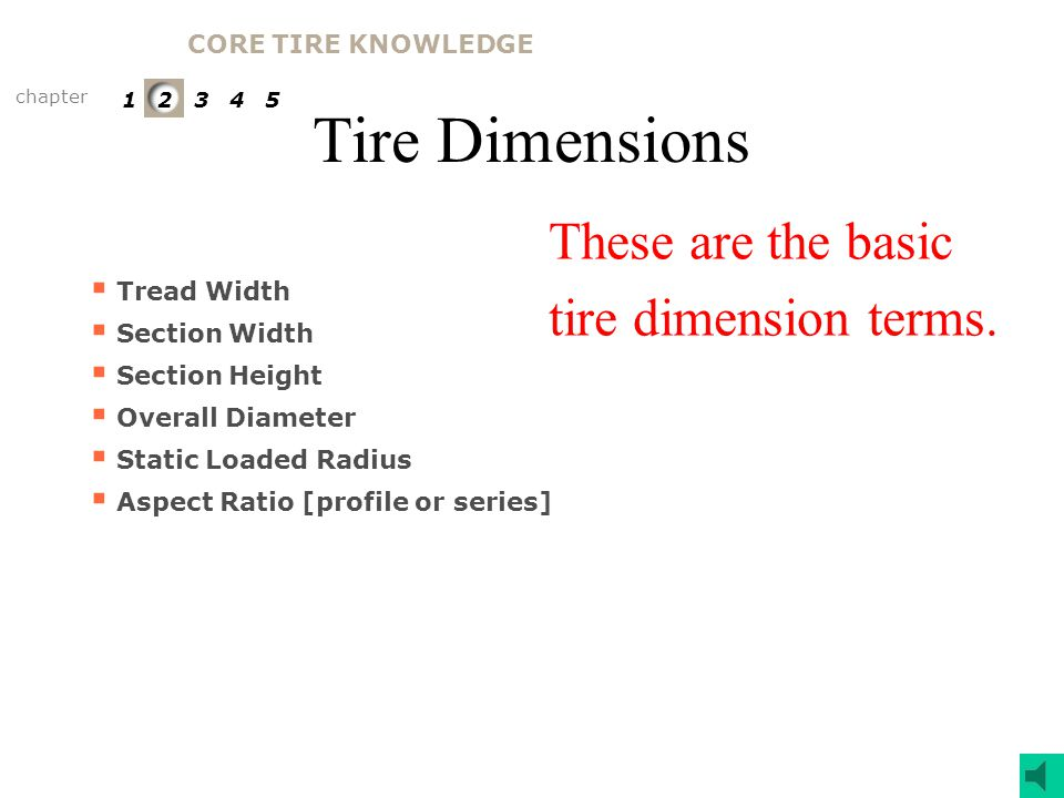 Tire Components The tread is the portion of the tire in contact with the road surface.
