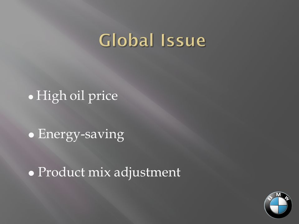 High oil price Energy-saving Product mix adjustment