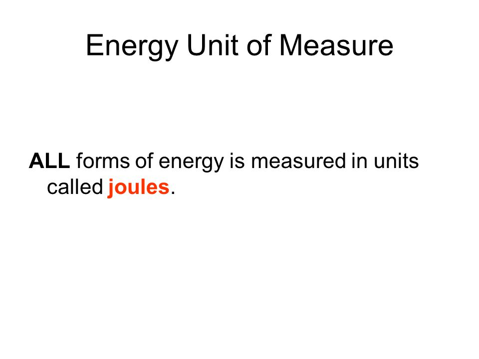 Conservation of Energy Energy is most noticeable when it changes from one form to another.