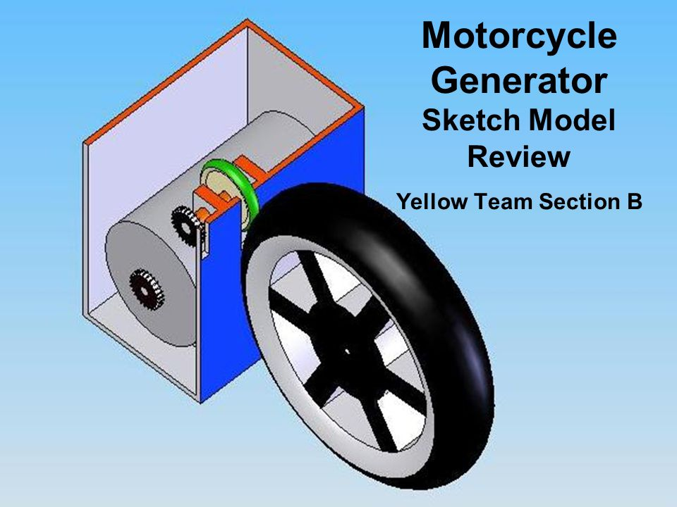 Motorcycle Generator Sketch Model Review Yellow Team Section B