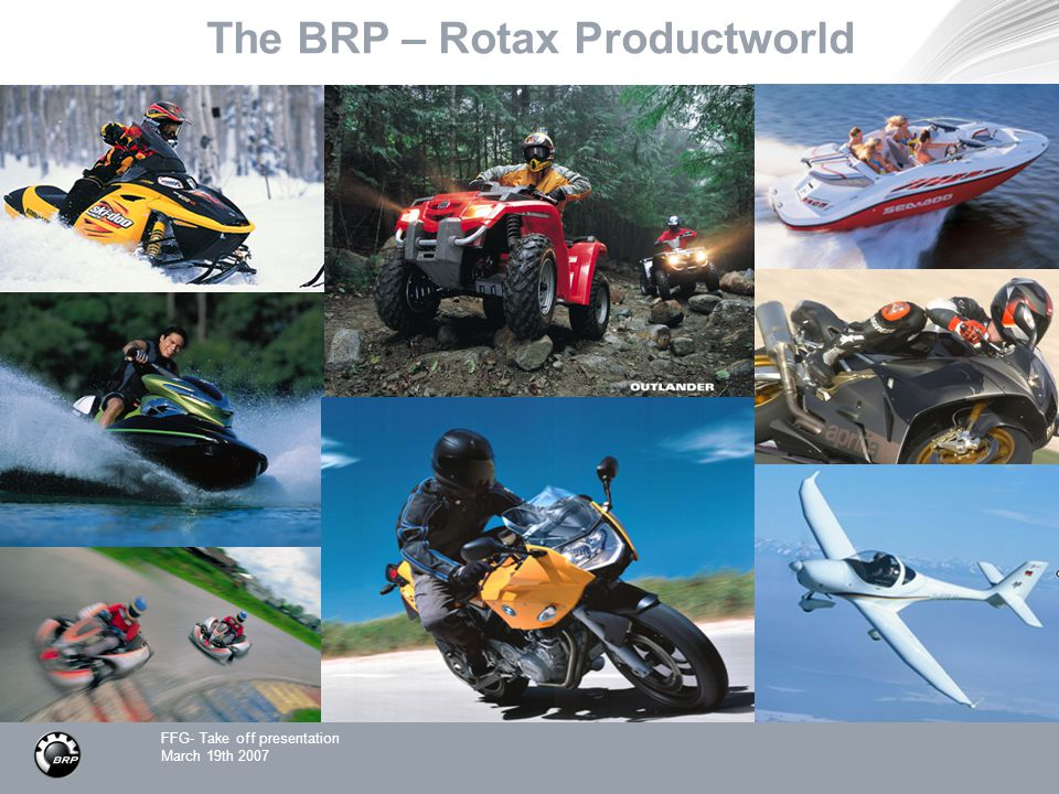 FFG- Take off presentation March 19th 2007 The BRP – Rotax Productworld