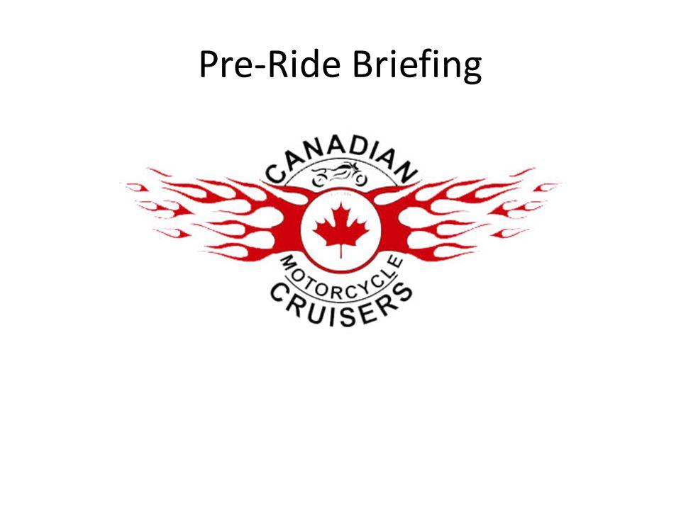 Pre-Ride Briefing