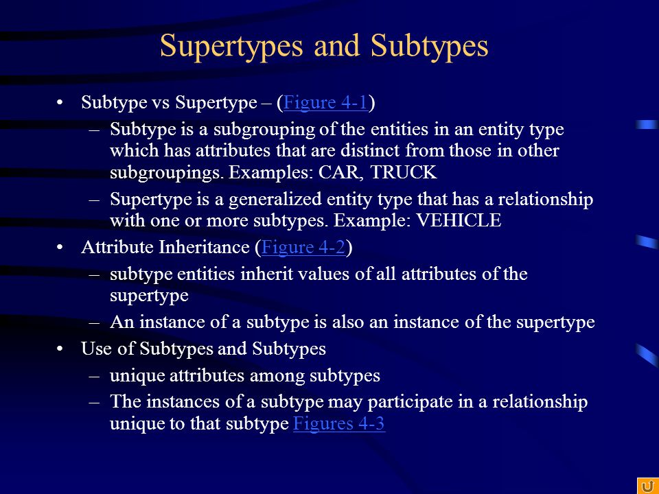 Figure 4-6b: Completeness Constraints - Partial Specialization Rule A vehicle could be a car, a truck, or neither