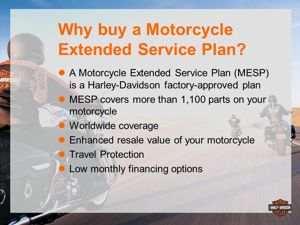 Harley-Davidson Military Sales Motorcycle Extended Service Plan