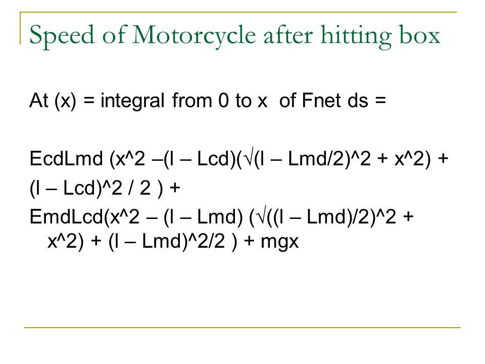 Cracking XCd = √((Pcdw/Ecd)^2 + (Pcdw/Ecd)(l-Lcd)
