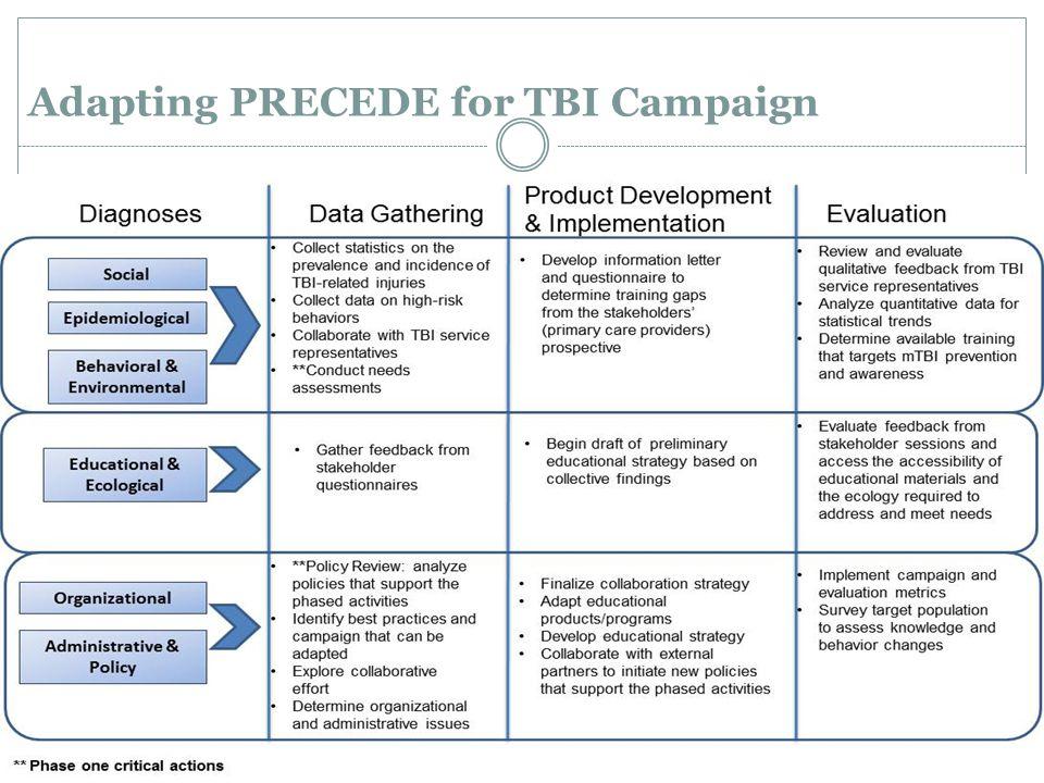 Adapting PRECEDE for TBI Campaign