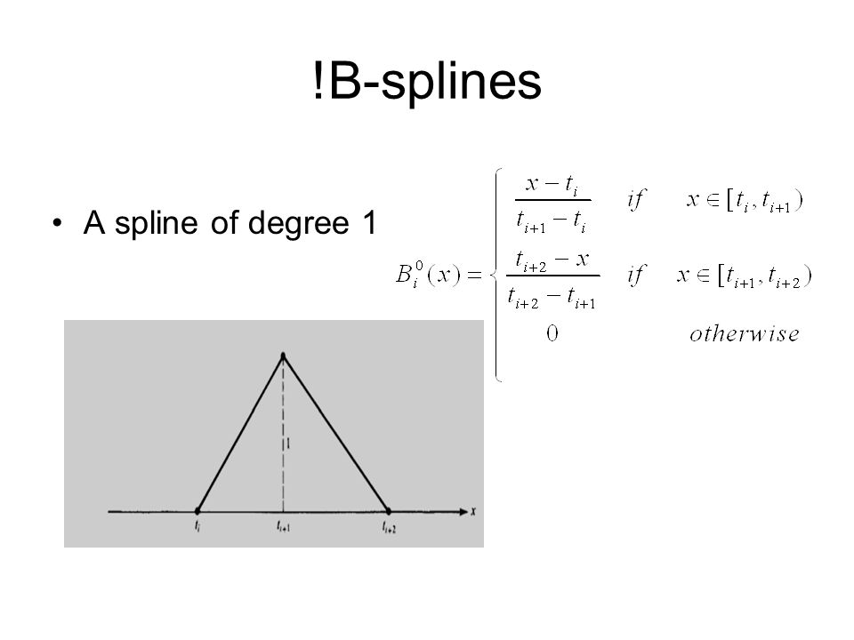!B-splines A spline of degree 1