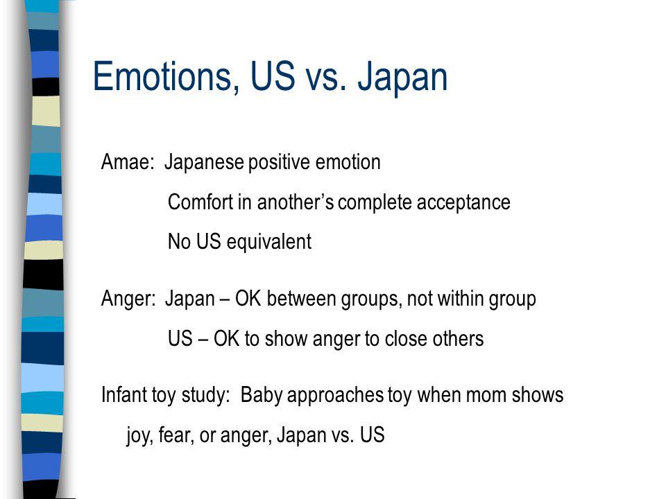 Emotions, US vs.