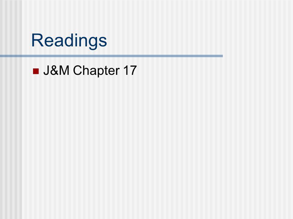Readings J&M Chapter 17