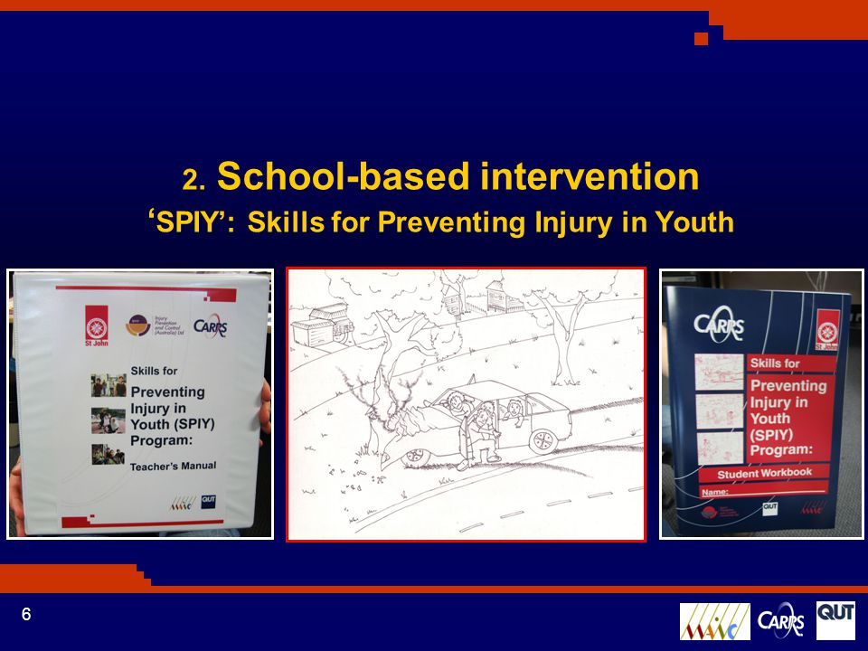 6 2. School-based intervention ' SPIY': Skills for Preventing Injury in Youth