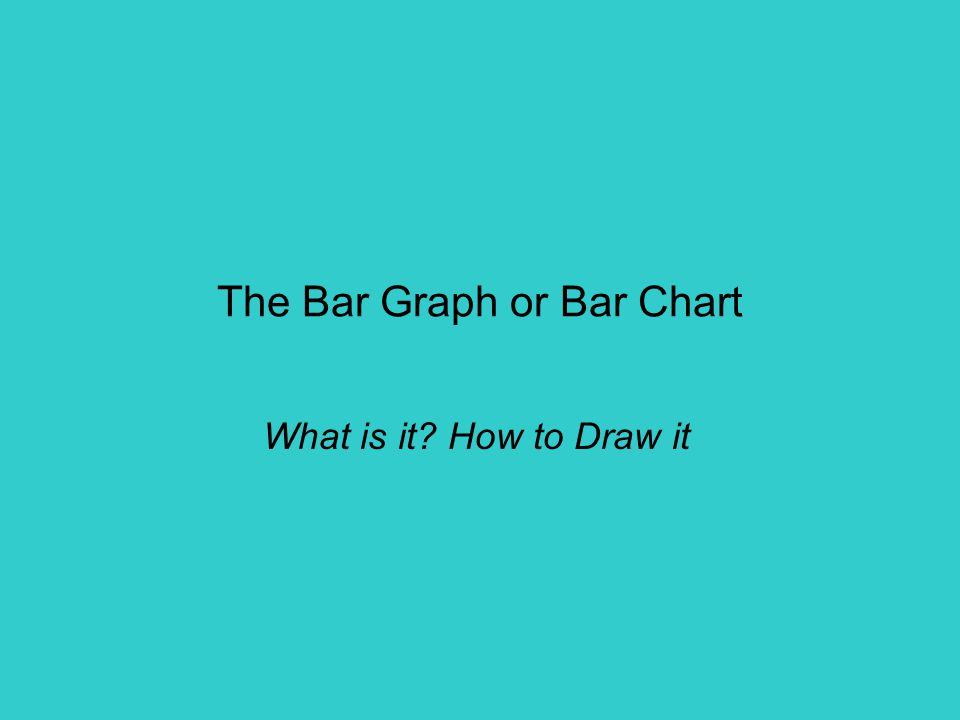 The Bar Graph or Bar Chart What is it How to Draw it