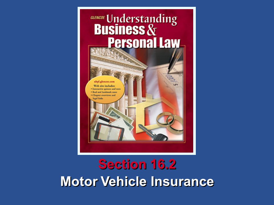 Motor Vehicle Insurance Section 16.2