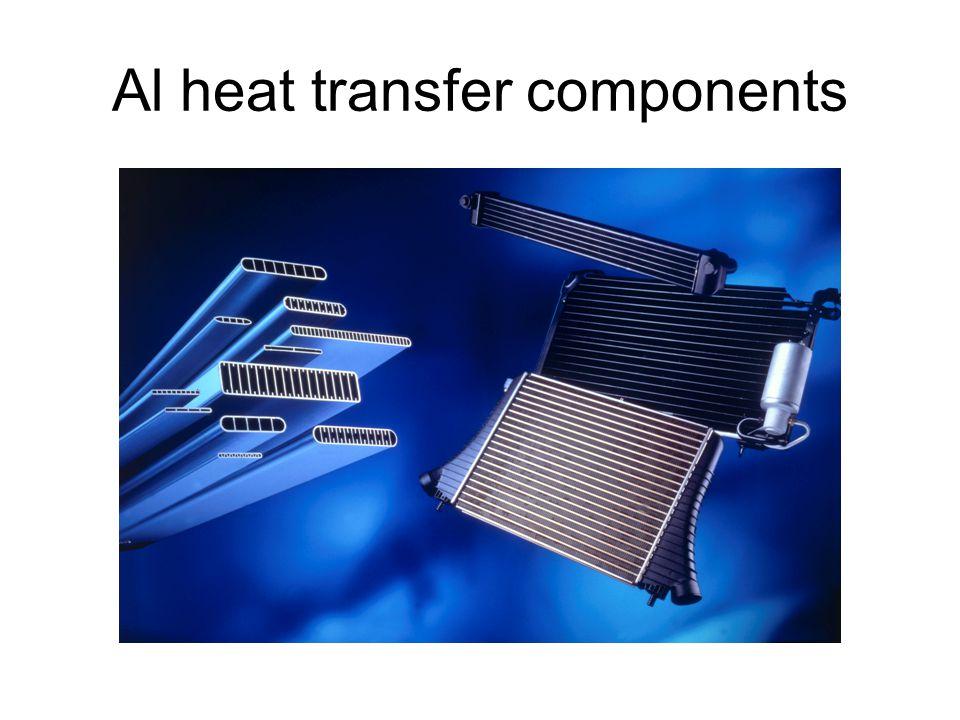 Al heat transfer components
